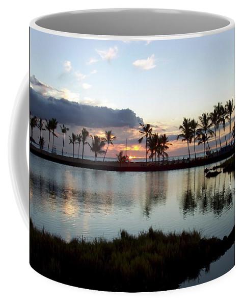 Sunset Coffee Mug featuring the photograph Peaceful Sunset by Deborah Crew-Johnson
