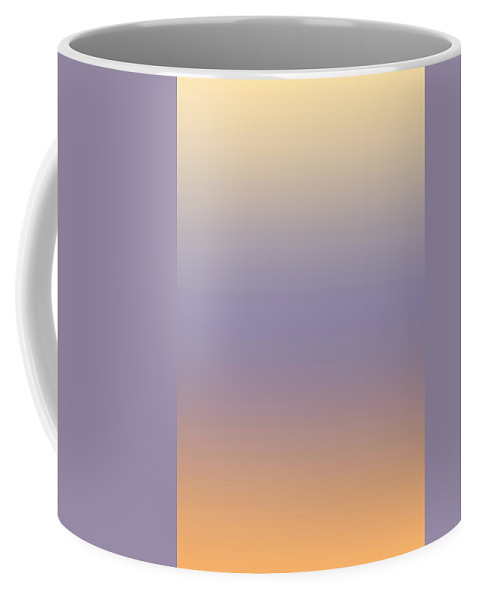 Peach - Abstract Coffee Mug featuring the digital art Peach - R Blended by Custom Home Fashions