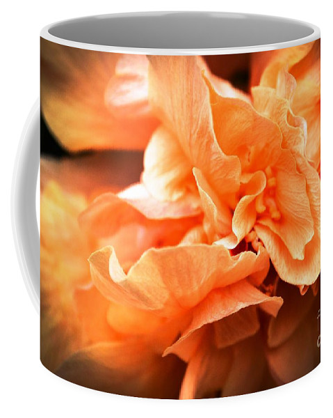 Abstract Coffee Mug featuring the photograph Peach Ripples by Lisa Kilby