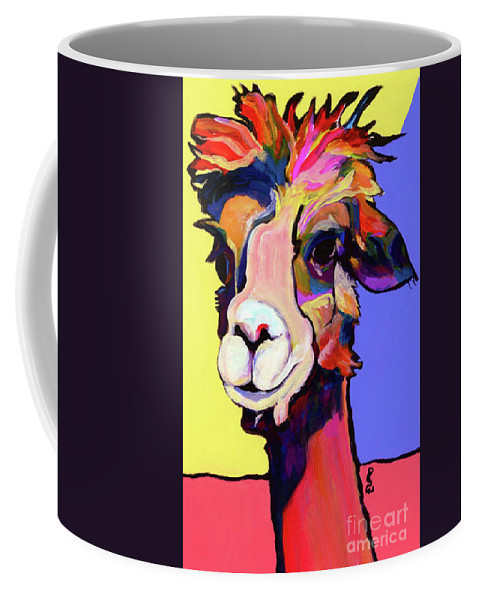 Pat Saunters-white Coffee Mug featuring the painting Peaches by Pat Saunders-White