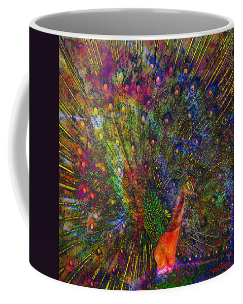 Peacock Coffee Mug featuring the digital art Peacock by Barbara Berney