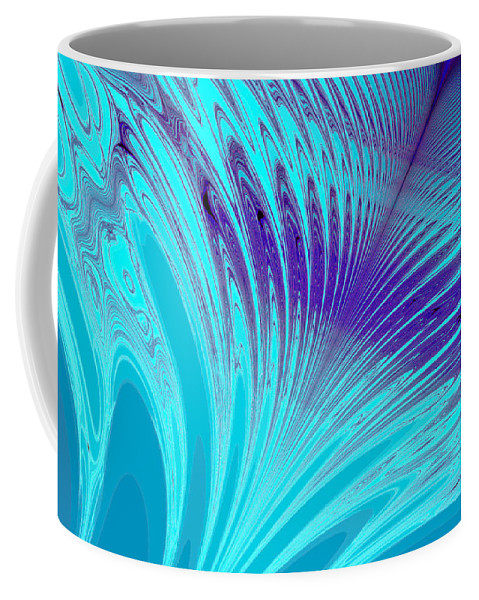 Clay Coffee Mug featuring the digital art Peacock by Clayton Bruster