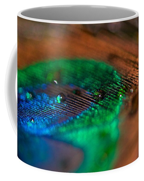 Lisa Knechtel Coffee Mug featuring the photograph Peacock Feather by Lisa Knechtel