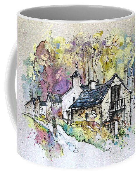 Peak District Coffee Mug featuring the painting Peak District 09 B by Miki De Goodaboom