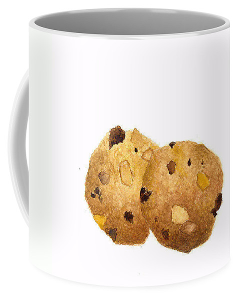 Cookies Coffee Mug featuring the painting Peanut Butter Chocolate Chip Cookies by Michael Vigliotti