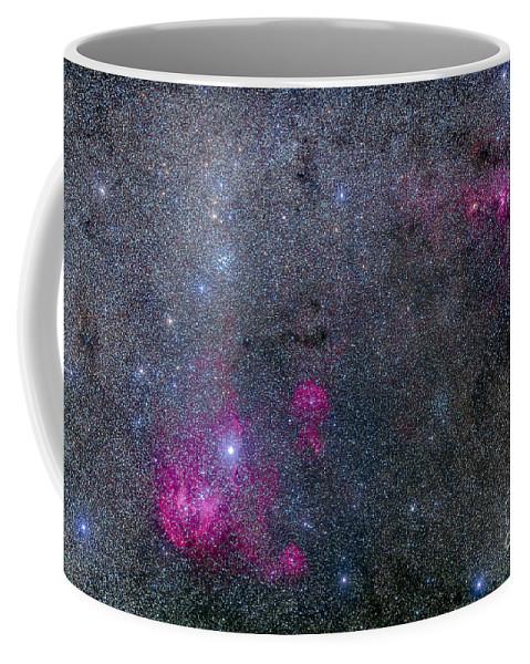 Centaurus Coffee Mug featuring the photograph Pearl Cluster And Lambda Centauri by Alan Dyer