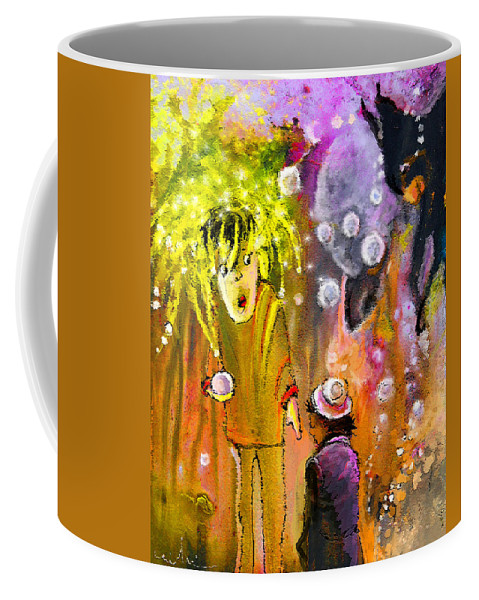 Fantasy Coffee Mug featuring the painting Pearls Pearls Pearls by Miki De Goodaboom