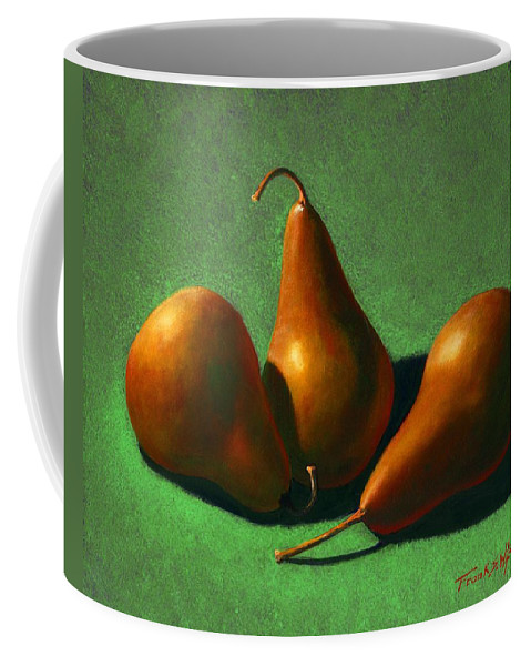 Still Life Coffee Mug featuring the painting Pears by Frank Wilson