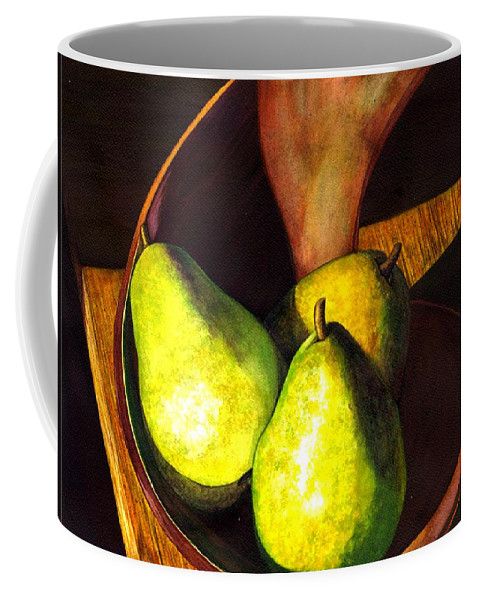 Still Life Coffee Mug featuring the painting Pears No 1 by Catherine G McElroy