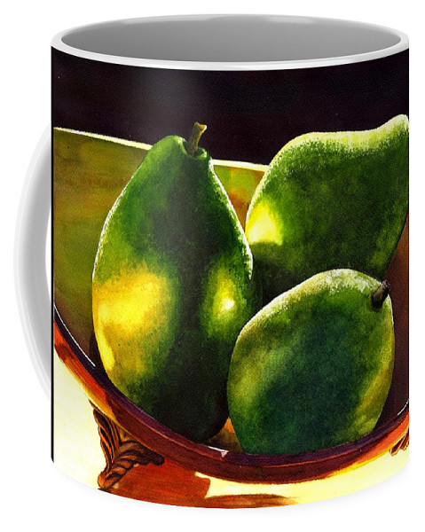 Still Life Coffee Mug featuring the painting Pears No 2 by Catherine G McElroy
