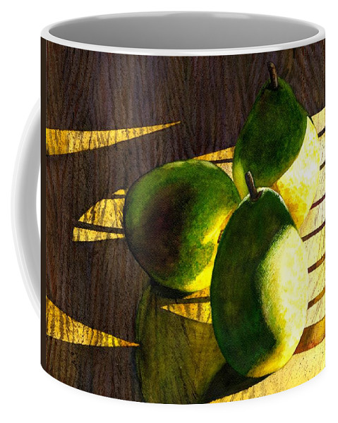 Pears Coffee Mug featuring the painting Pears No 3 by Catherine G McElroy
