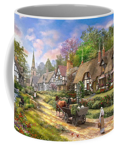 Cottage Coffee Mug featuring the photograph Peasant Village Life by Dominic Davison