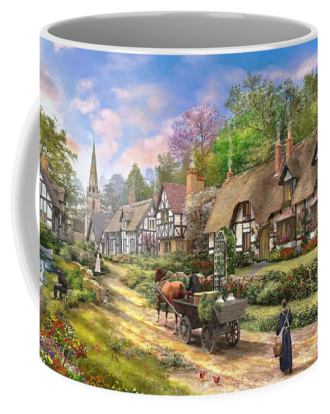 Cottage Coffee Mug featuring the photograph Peasant Village Life Variant 1 by Dominic Davison