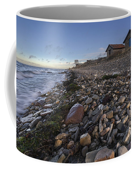 Baltic Sea Coffee Mug featuring the photograph Pebble Beach by Ludwig Riml