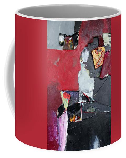 Peek A Boo Canvas Destroyed Coffee Mug featuring the painting Peek A Boo by Carmencita Balagtas