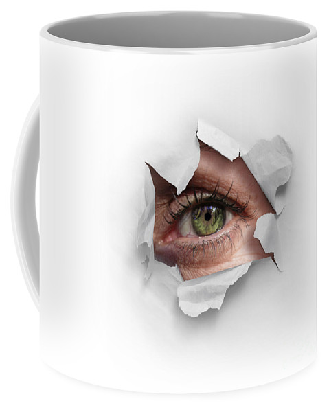Abstract Coffee Mug featuring the photograph Peek Through A Hole by Carlos Caetano