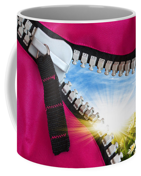Background Coffee Mug featuring the photograph Peeking Spring by Carlos Caetano