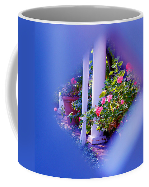 Flower Coffee Mug featuring the photograph Peeping Trough The Fence by Susanne Van Hulst