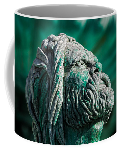 Blue Coffee Mug featuring the photograph Peering Beyond The Waves by Christopher Holmes