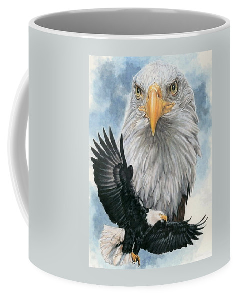 Bald Eagle Coffee Mug featuring the mixed media Peerless by Barbara Keith
