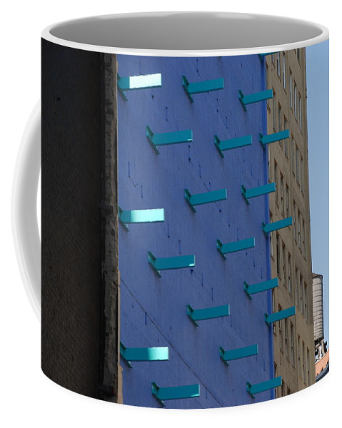 Architecture Coffee Mug featuring the photograph Peg Board by Rob Hans