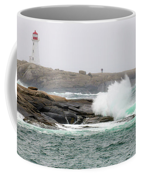Peggy's Cove Lighthouse Coffee Mug featuring the photograph Peggys Cove Lighthouse 6127 by Jack Schultz