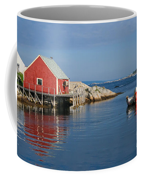 Peggy's Cove Coffee Mug featuring the photograph Peggys Cove by Thomas Marchessault
