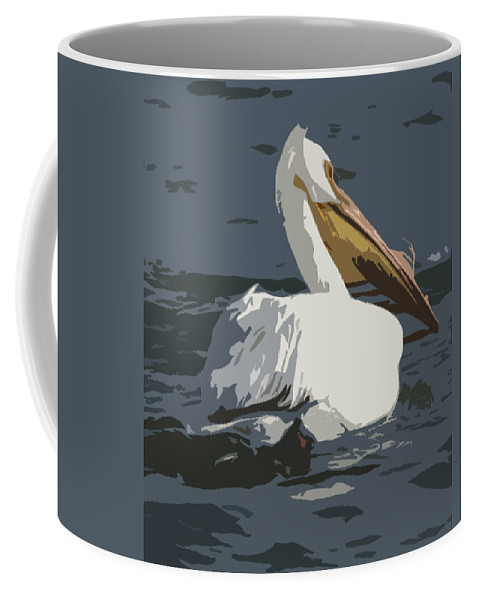 Pelican Coffee Mug featuring the photograph Pelican Cut Out by Heather Coen