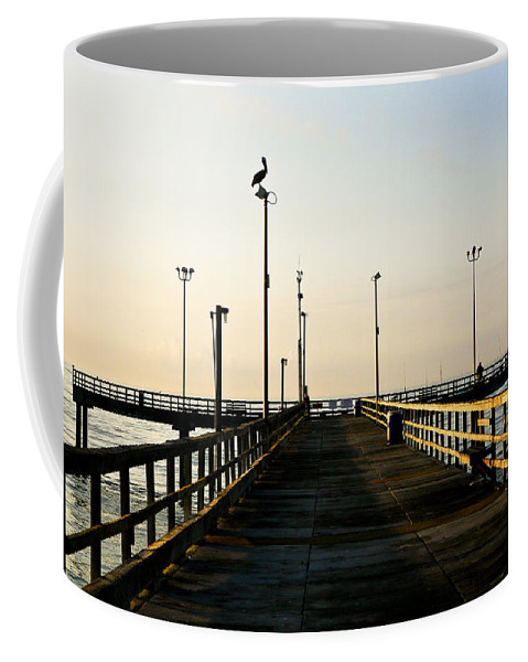 Pelican Coffee Mug featuring the photograph Pelican Morning by Marilyn Hunt