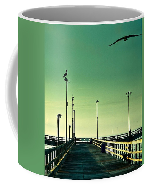 Americana Coffee Mug featuring the photograph Pelican On Watch Duty by Marilyn Hunt