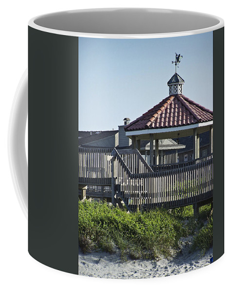 Pelican Coffee Mug featuring the photograph Pelican Weathervane Ocean Isle Norht Carolina by Teresa Mucha