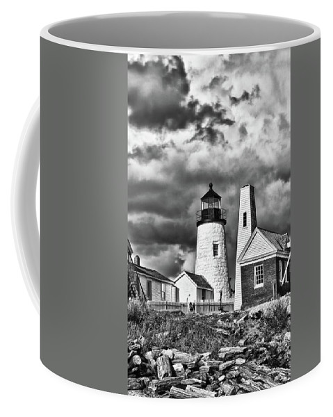Buildings Coffee Mug featuring the photograph Pemaquid Point 4821b by Guy Whiteley