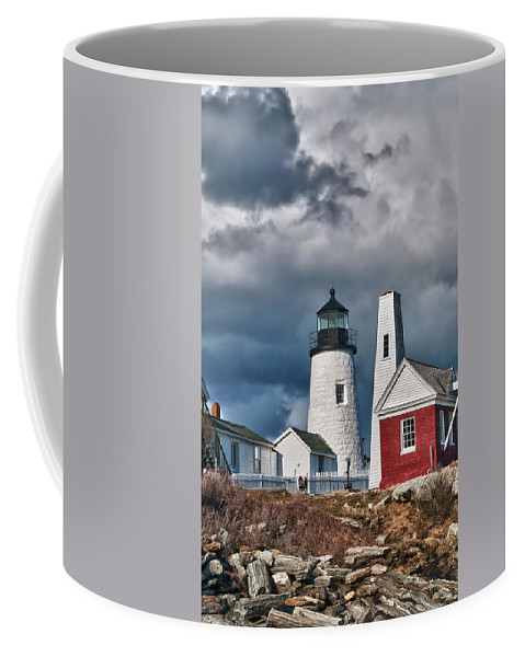 Buildings Coffee Mug featuring the photograph Pemaquid Point Lighthouse 4821 by Guy Whiteley