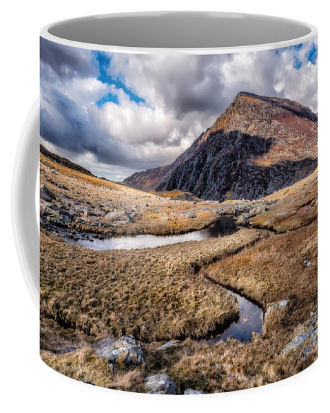 Landscape Coffee Mug featuring the photograph Pen Yr Ole Wen Mountain by Adrian Evans