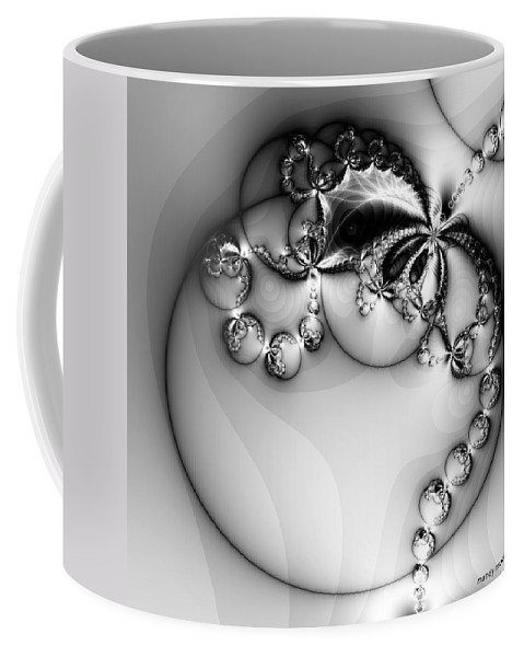 Digital Art Coffee Mug featuring the digital art Pendant In Silver by Amanda Moore