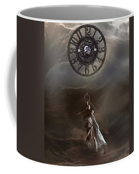 Woman Coffee Mug featuring the digital art Pendulum by Karen Koski
