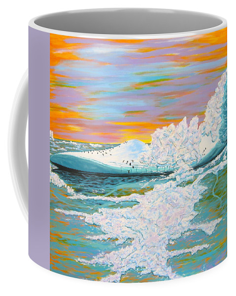 Ice Coffee Mug featuring the painting The Last Iceberg by V Boge