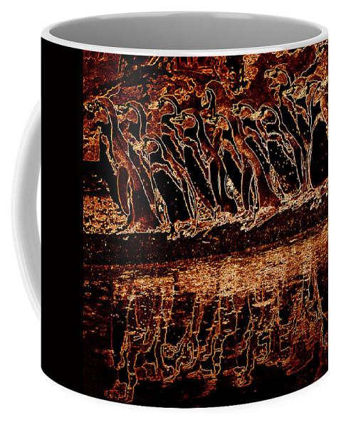 Penguin Coffee Mug featuring the photograph Penguin Reflections by James Hill