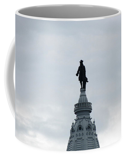 Statuary Coffee Mug featuring the photograph Penn On Air by Deborah Crew-Johnson