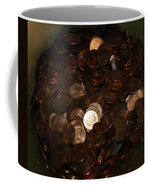 Pennies Coffee Mug featuring the photograph Pennies by Rob Hans