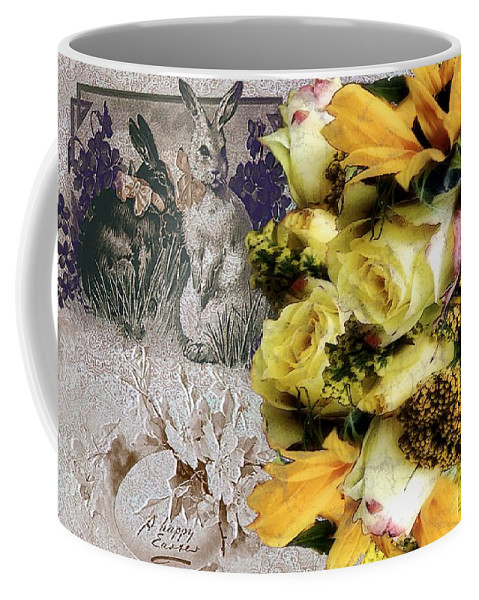 Bouquet Coffee Mug featuring the painting Penny Postcard Easter by RC DeWinter