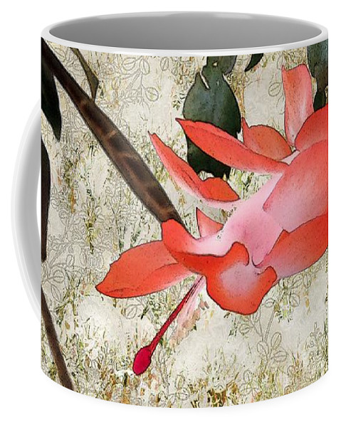 Victorian Coffee Mug featuring the painting Penny Postcard Japonaise by RC deWinter