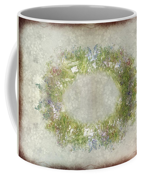 Flowers Coffee Mug featuring the painting Penny Postcard Rustic by RC DeWinter