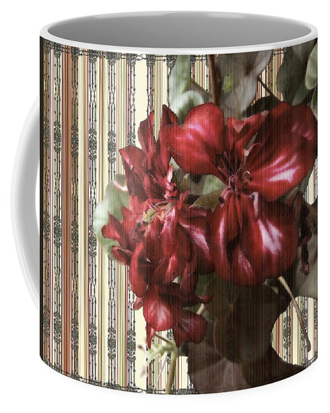 Flowers Coffee Mug featuring the painting Penny Postcard Striped by RC DeWinter