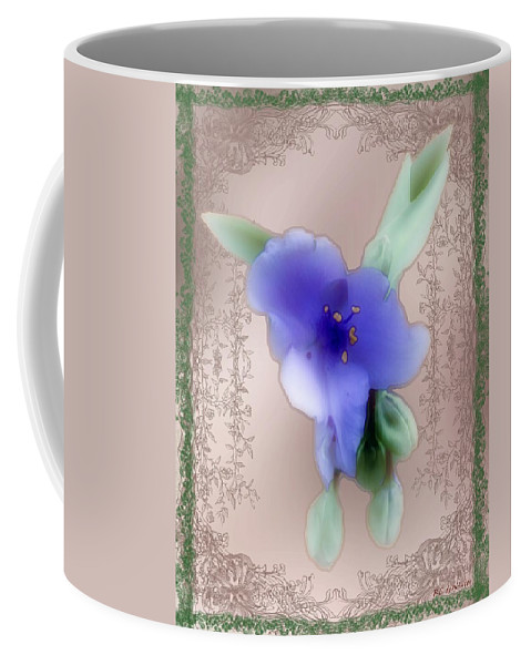 Blossoms Coffee Mug featuring the painting Penny Postcard Wildflower by RC DeWinter