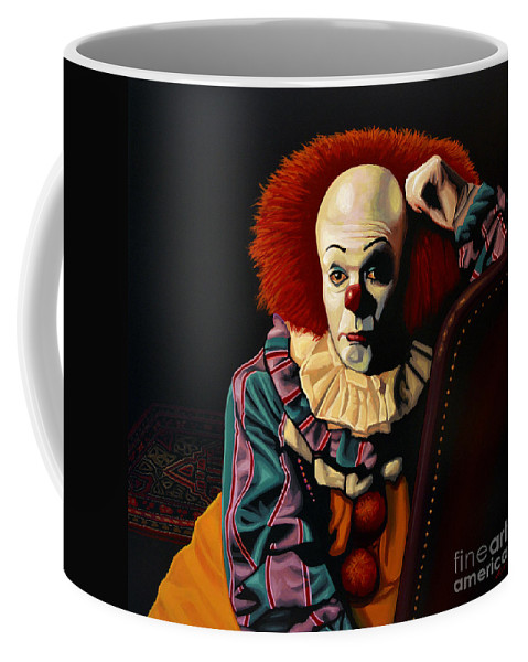 Pennywise Coffee Mug featuring the painting Pennywise by Paul Meijering