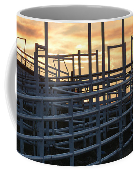 Pens Coffee Mug featuring the photograph Pens And Chute by Audie T Photography