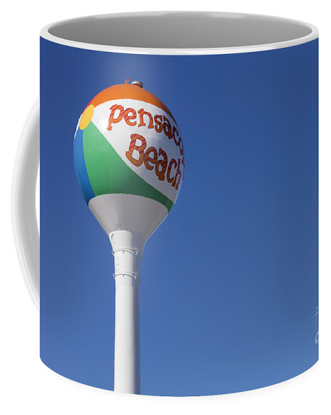 Florida Coffee Mug featuring the photograph Pensacola Beach Watertower by Anthony Totah