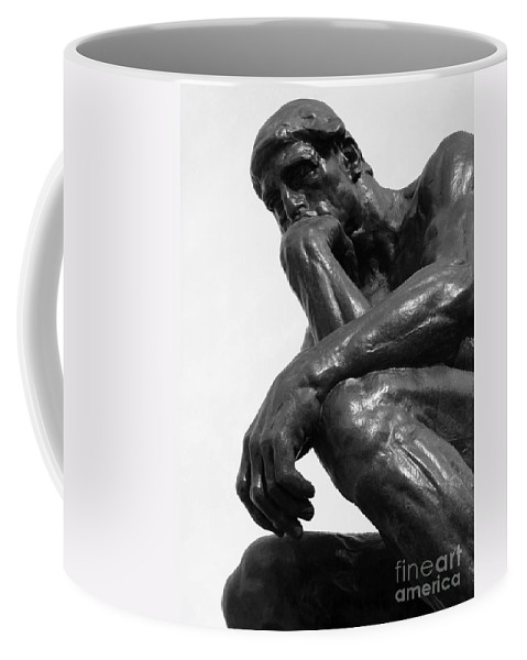 The Thinker Coffee Mug featuring the photograph Pensive by Ann Horn