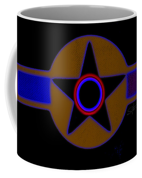 Usaaf Coffee Mug featuring the painting Pentagram by Charles Stuart